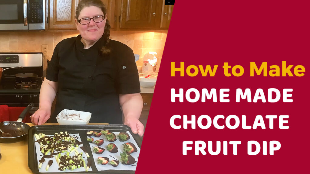 Home Made Chocolate fruits Dip